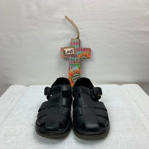Cole Haan Country Fisherman Black Leather Sandal